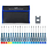GogoFix Precision 20 Pieces Screwdriver Set for Electronics, Computer, Laptop, Phone, Pad, Gaming Console, Camera. Repair and Maintenance