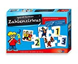 Noris 606076150 - Zahlenzirkus, Puzzles, Kinderspiel -
