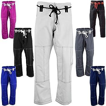 AKRON BJJ Gi Pants Brazilian Jiu Jitsu Gi Martial Arts MMA Grappling Kimono New  White/Blk A2