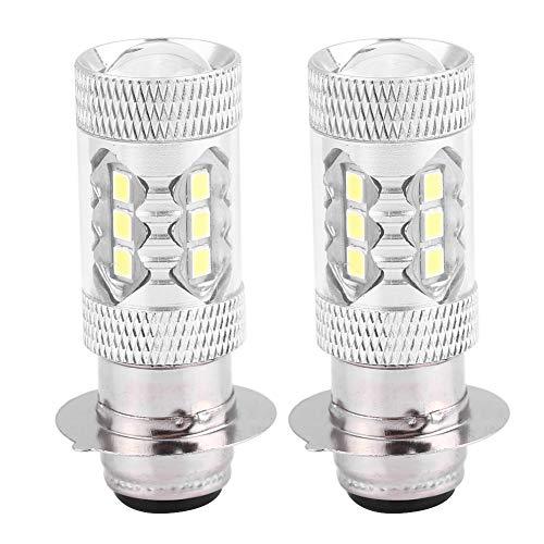 SANON Motorfiets koplamp scooter peer 2 stuks motorfiets 80W super heldere omzetting LED-koplamp (wit licht)