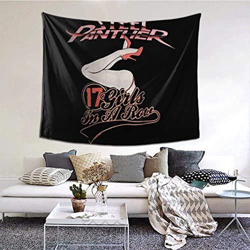 YeeATZ Tapiz de pared para decoración de salón, diseño de pantera de acero