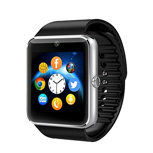 Amazingforless GT08-SLV Bluetooth Touch Screen Smart Wrist Watch Phone with Camera - Silver