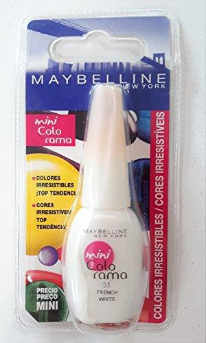 Maybelline Mini Colorama Nagellack 51 French White 7,5 ml
