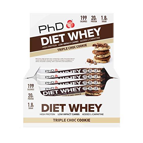 PhD Nutrition Diet Whey Bars, Triple Chocolate Cookie