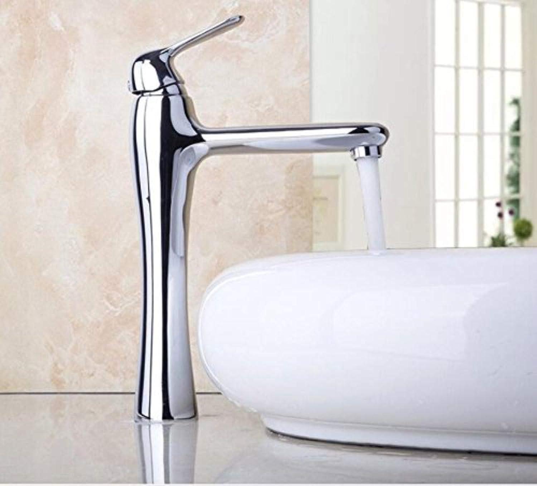 Waschtischarmaturen Wasserhahn Hochwasserhhne Verchromt Deckmontage Einhebel Waschtischarmatur aus massivem Messing