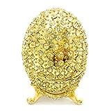 WWZL Dorado Huevos de Halloween, 4 × 6 cm, Joyas Caja de Almacenamiento, Regalo