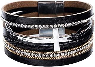 Leather Wrap Bracelet for Women - Multi-Layer Bracelets for Girl, Ideal Gift Bracelet for Women, Big Sister, Mom…