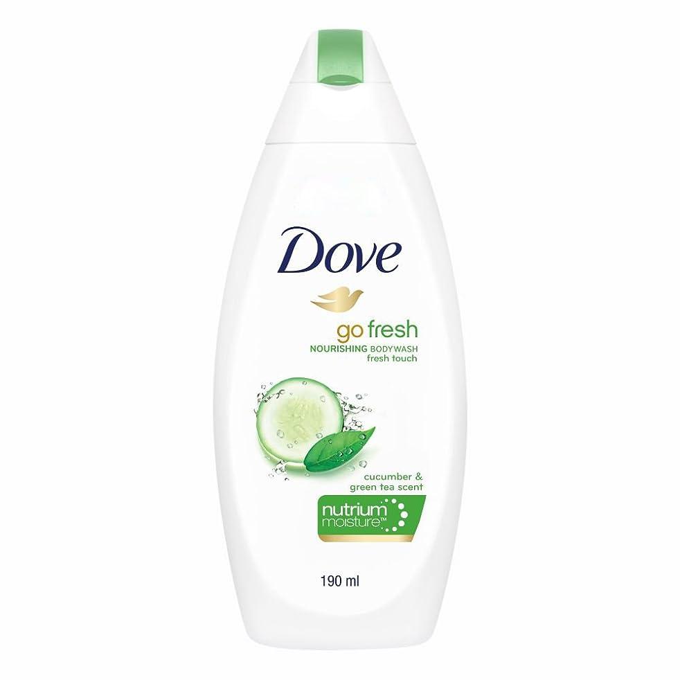 開梱ピッチ百科事典Dove Go Fresh Nourishing Refreshing Cucumber And Green Tea Body Wash, 190ml