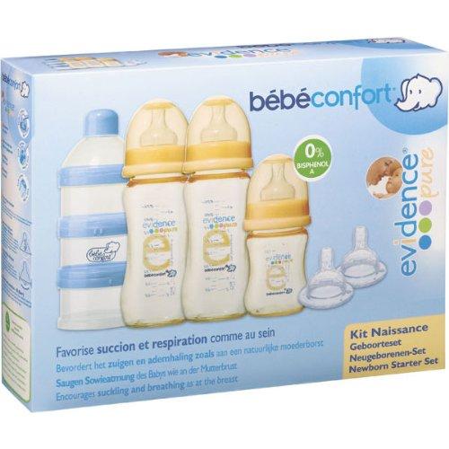 Bebe Confort - Juego de biberones, tetinas y dosificador de leche en polvo