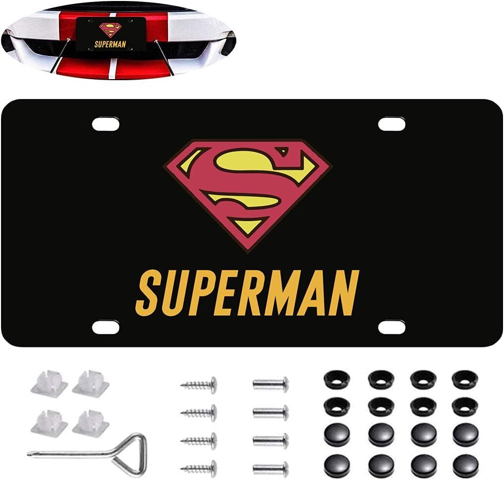 Fit Superman License Plate H Black Frame Max 75% OFF Cheap bargain