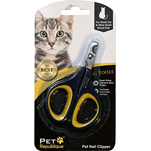 Pet Republique Cat Nail Clippers – Professional Claw Trimmer for Cat, Kitten, Hamster, & Small Breed Animals