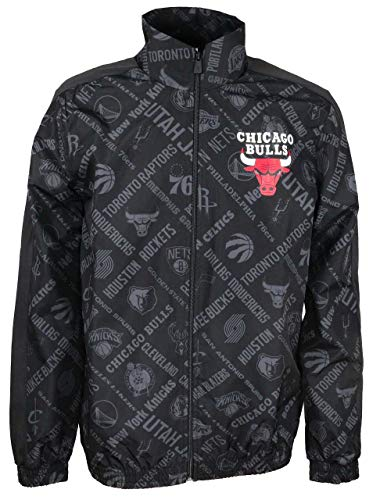 New Era Chicago Bulls Jacke NBA AOP Track Jacket Black - S