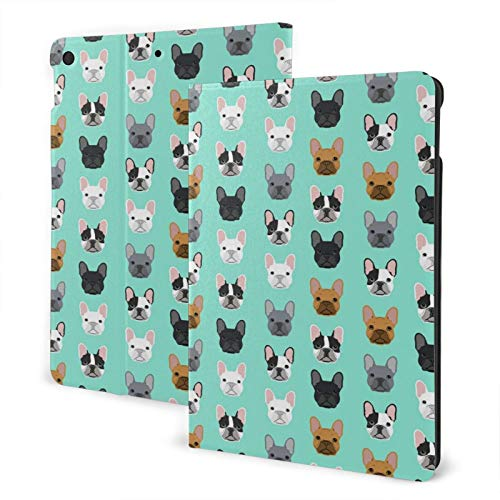 French Bulldog Case for iPad 8th Generation Case 10.2 inch Smart Cover with Auto Wake/Sleep Slim Stand Hard Back