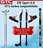 STC 35% Carbon Langlauf Stöcke Sport 160 cm