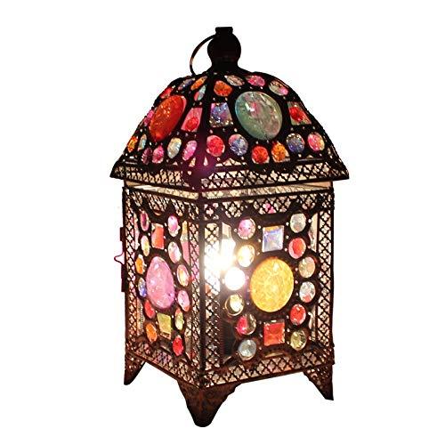 QXinjinxtd Lámparas para habitaciones Tabla Estilo Europeo Retro Bar Lámparas Lámpara De Noche Caja De La Lámpara Del Asiento Con Niños Restaurante Cafe Caliente Linterna Linterna Lámparas De Escritor