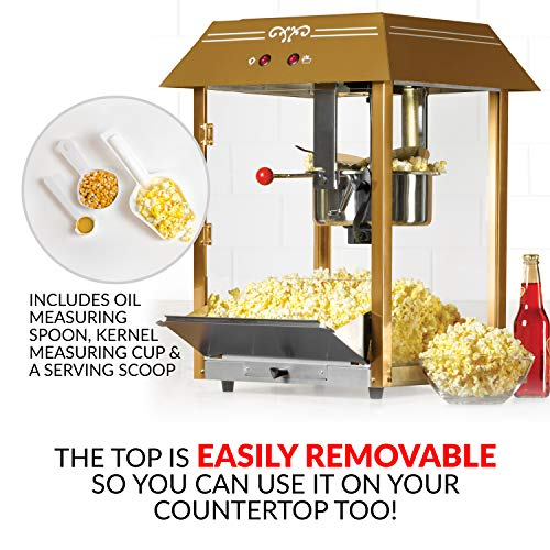"""Product Image 2: Nostalgia Vintage 10-Ounce Professional Popcorn and Concession Cart 