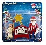 PLAYMOBIL - Pequeño ángel y Papá Noel con órgano (4889)