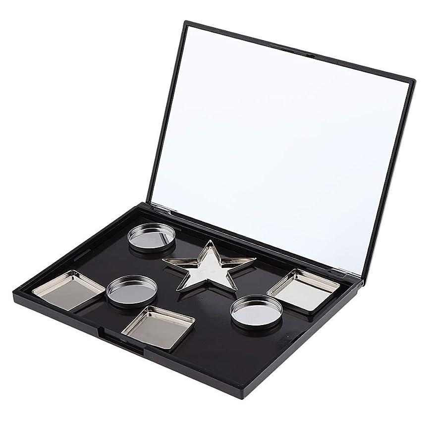 P Prettyia 空 磁気 化粧ケース アイシャドウパレット オーガナイザーボックス 全3選択 - パン付き#2