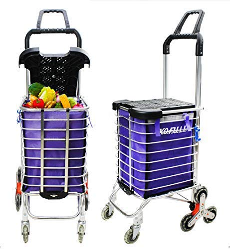 Kofull Grocery & Laundry Foldable Shopping Cart