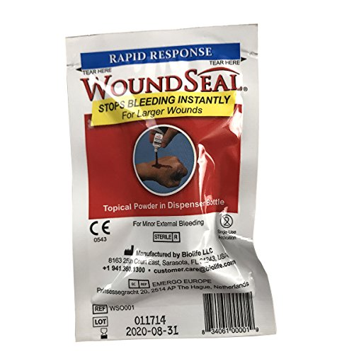First Aid Only 90327 WoundSeal Blood Clot Powder, Rapid Response Bottle