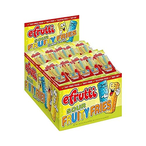 E.frutti Sour Fruity Fries Gummi Candy, 0.55-Ounce (Pack of 48)