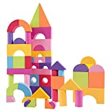 Sunronal Bloques de construcción de Espuma, 50PCS Ultra-Light Colorful EVA Foam Building Block Brick Set Niños Infantil Niños Juguete Educativo Suave Regalo