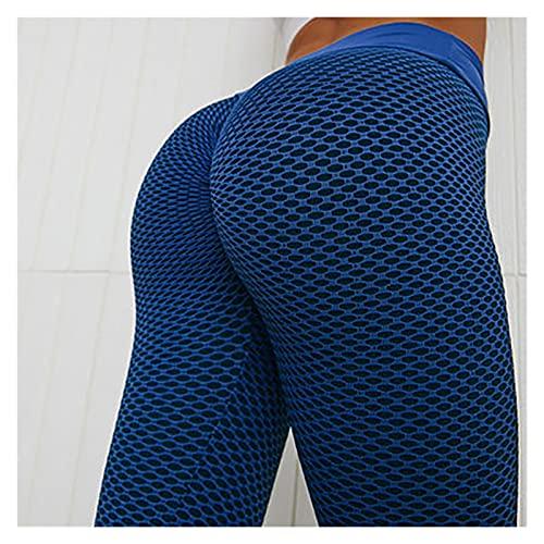 Collants de Grille Pantalon de Yoga Femmes sans Couture Taille Haute Leggings Golding Gym Fitness Push Up Vêtements Girl Yoga Pant (Color : Blue, Size : S)