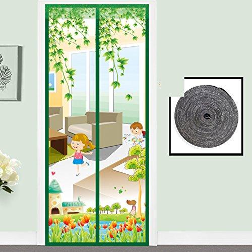 Muggengordijn, magnetisch scherm deur zomer scherm raam vliegen ventilatie home slaapkamer partitie gordijn gratis Punch klittenband