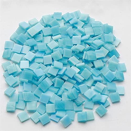LinXIPU Fragmentos de Azulejos de Colores Mosaico de vitrales 200G Bricolaje Art Craft Supplies Wall Mirrero Etiqueta Artesanía de Mosaico (Color : 11)