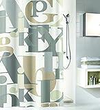 Kleine Wolke Textilgesellschaft Duschvorhang, Kunstfaser, Natur, 200 x 180 cm