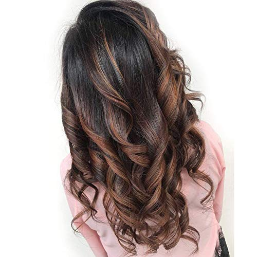 Body Wave Highlights Ombre Lace Front Wig Brazilian Remy Human Hair Wigs For Black Women 130% Density Natural Hairline With Baby Hair 16inch