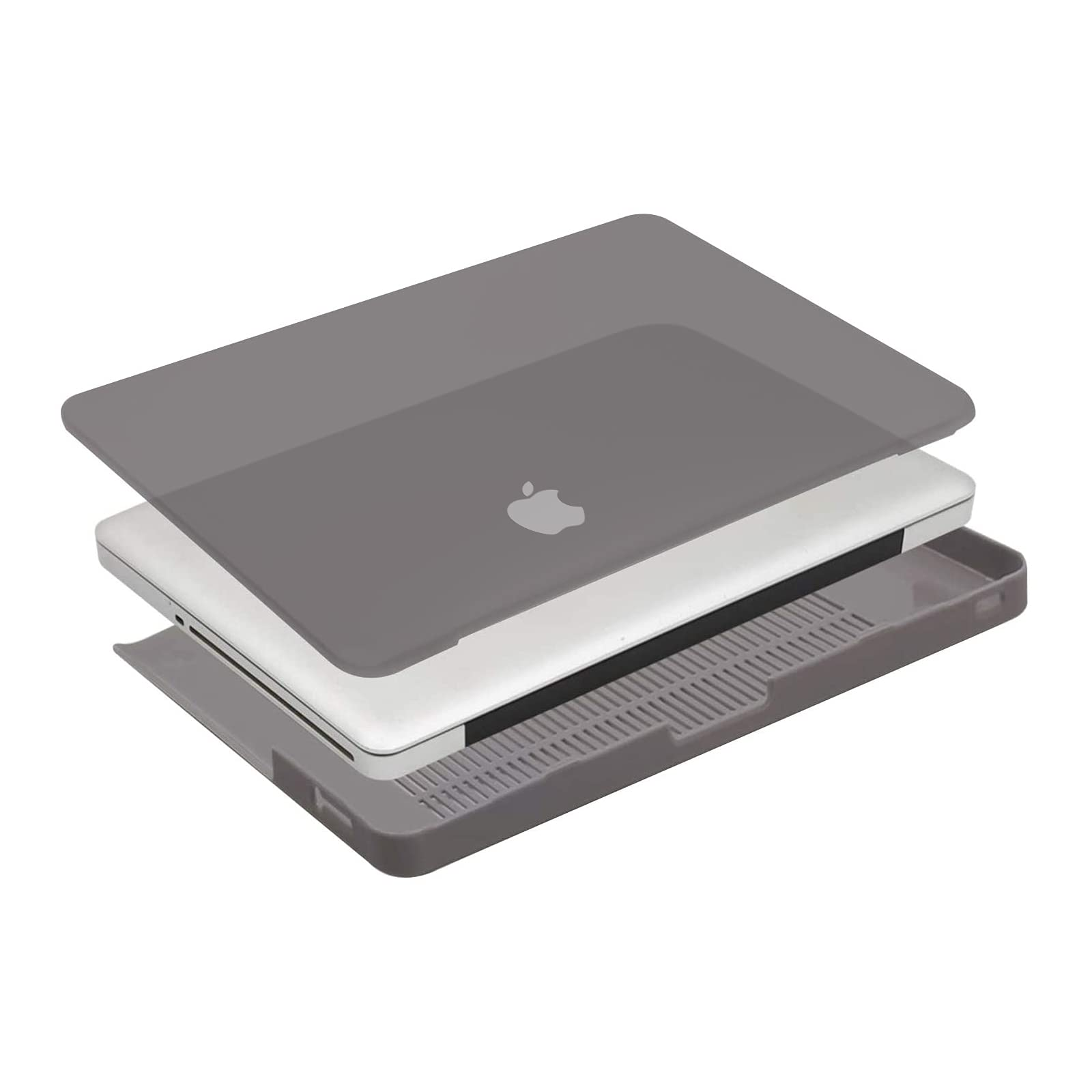 MOSISO Compatible with MacBook Pro 13 inch Case (Model: A1278, with CD-ROM) Old Version Release Early 2012/2011/2010/2009/2008, Protective Plastic Hard Shell Case Cover, Gray