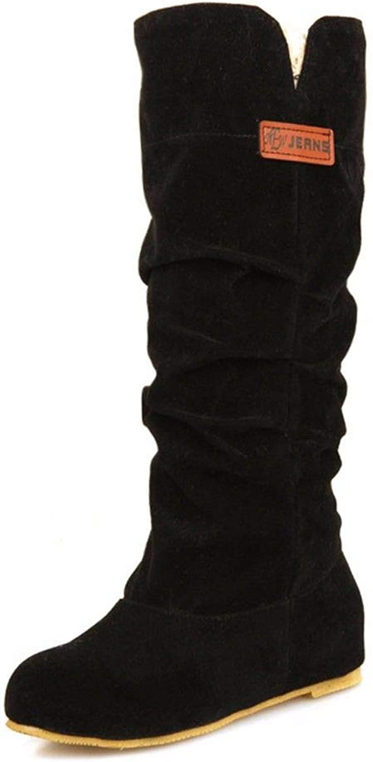 Autumn and Winter Classic high Cylinder Boots, Suede Boots, Ladies Boots