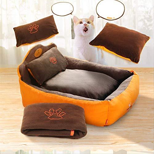 MCYYY Haustier Hund Katze Bett Haus Kissen Haustier Betten für Hunde Katzen Hund Haus Schlafsofa Hundehütte edle Prinzessin Haustier Bett
