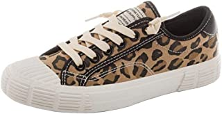 RAZAMAZA Women Fashion Lepord-Print Shoes Lace Up Sneakers