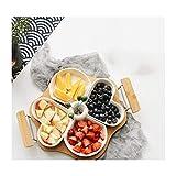 Mzxun. Ceramica creativa Fruit Platter Modern Living Room piatto di frutta piatto di dessert secca piatto di frutta Piatto Spuntino Vano Candy Piastra