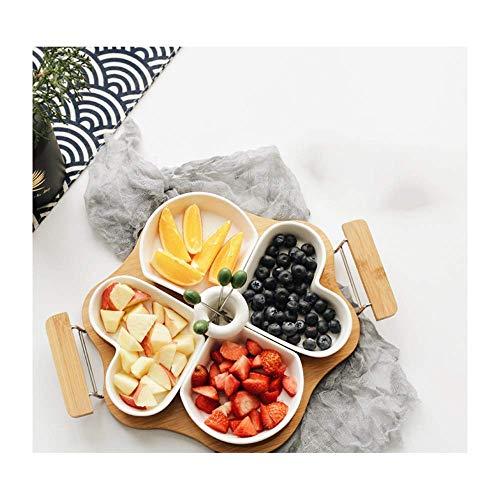 LIPENLI Fruit Creative Céramique Platter Modern Living Fruit Chambre Assiette Assiette à dessert Assiette de fruits secs Assiette Snack Compartiment bonbons plaque