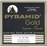 PYRAMID STRINGS EB Gold 040-100 short scale chrome nickel flatwounds フラットワウンド エレキベース弦