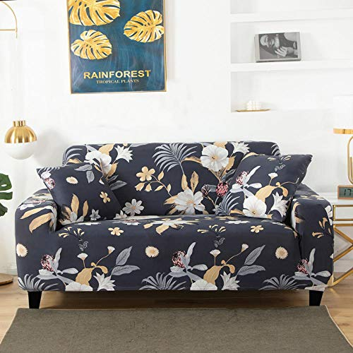 HXTSWGS Living Room Furniture Protector,printed sofa protector covers, for living room elastic stretch slipcover, sectional corner sofa covers-color 2_2-seater 145-185cm