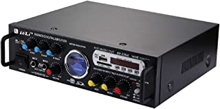 WZY AV-339A 2CH HiFi Stereo Audio Amplifier with Remote Control, Support FM/SD / MP3 Player/USB/Display/Meter Indicator, A...