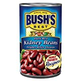 BUSH'S BEST Dark Red Kidney Beans, 16 Ounce Can, Canned Kidney Beans, Plant-based Protein and Fiber,...