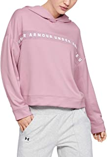 Under Armour Women's Tech Terry Hoodie, Pink (Pink Fog/White), X-Large