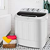 SUPER DEAL Portable Compact Mini Twin Tub Washing Machine w/Wash and Spin Cycle, Built-in Gravity...