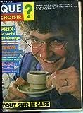 QUE CHOISIR ? - N°180 - JANVIER 1983 - TESTS: MACHINES A LAVER ELECTRONIQUES - TOUT...