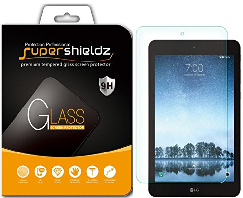 (2 Pack) Supershieldz Designed for LG G Pad F2 8.0 (Tempered Glass) Screen Protector, Anti Scratch, Bubble Free