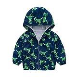 K-Youth Ropa Niña Invierno Rompevientos Chaquetas con Capucha Unisex Caliente Abrigo para Niñas Abrigos Bebe Niño Otoño Parka Plumas Jacket Niños Chaqueta Cortavientos (Verde 3, 5-6 años)