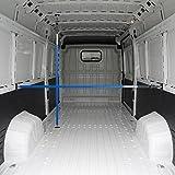 ALLEGRA Ladungssicherung und Transportsicherung für PKW LKW Anhänger und Transporter, Klemmstange Spannstange für die Tür, Ladesicherung für Auto Ausziehbar (0,65m - 1,15m, Blau)
