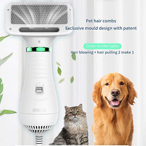 YChoice365 2-in-1 Haustier-Haartrockner mit Bürste für Haustiere, Haartrockner für Hunde, Katzen