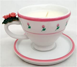 Giftco, Inc Roses Teacup & Saucer Candle