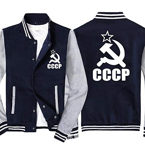 Uniforme De Béisbol De La Chaqueta De Los Hombres - CCCP Impreso Camiseta De Manga Larga con Cremallera De Pista Capucha Chaquetas - Adolescente Regalo